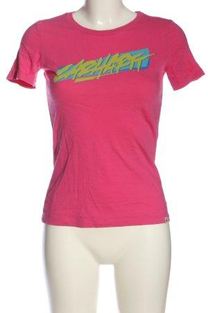 Carhartt T-shirt imprimé imprimé avec thème style décontracté