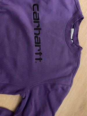 Carhartt Pull ras du cou violet foncé-noir