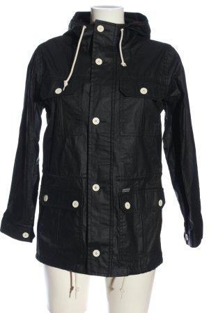 Carhartt Regenjacke schwarz-weiß Casual-Look