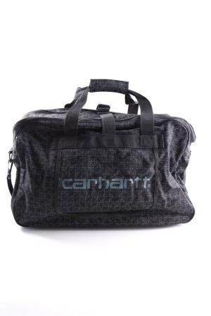 Carhartt Reisetasche schwarz-hellgrau grafisches Muster Casual-Look