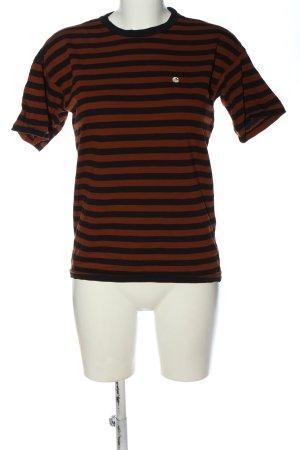 Carhartt Stripe Shirt brown-black striped pattern casual look