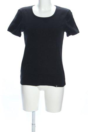 Carhartt Rippshirt schwarz Casual-Look