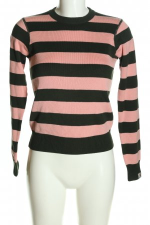 Carhartt Rundhalspullover schwarz-pink Streifenmuster Casual-Look