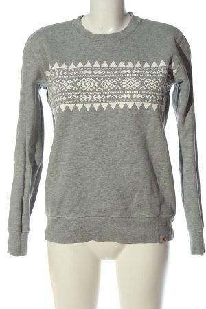 Carhartt Sweatshirt gris clair motif graphique style décontracté