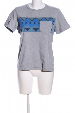 Carhartt T-Shirt hellgrau-blau meliert Casual-Look