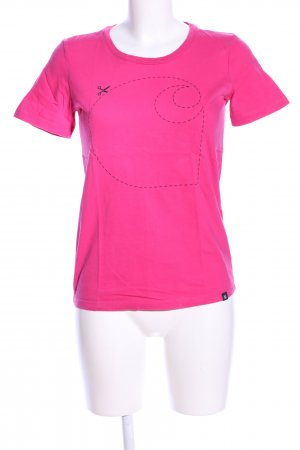 Carhartt T-Shirt pink Motivdruck Casual-Look