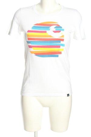Carhartt T-Shirt Motivdruck Casual-Look
