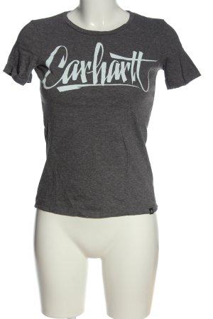 Carhartt T-Shirt hellgrau-weiß meliert Casual-Look
