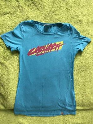 Carhartt T-shirt violet-bleu fluo