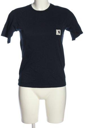 Carhartt T-shirt blu Stampa a tema stile casual