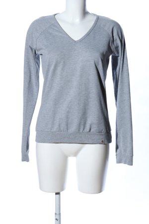 Carhartt V-Ausschnitt-Pullover hellgrau meliert Casual-Look
