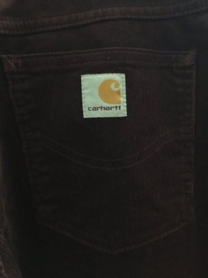 Carhartt Pantalón de pana burdeos-rojo amarronado