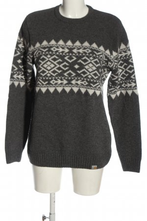 Carhartt Wool Sweater light grey-white graphic pattern casual look