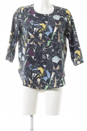 Carin Wester Long Sleeve Blouse abstract pattern extravagant style