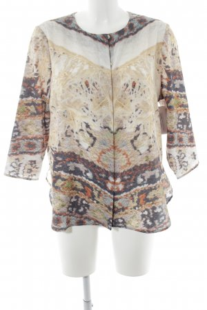 Carin Wester Long Sleeve Blouse mixed pattern casual look