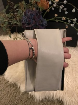 Carin Wester Clutch natural white leather