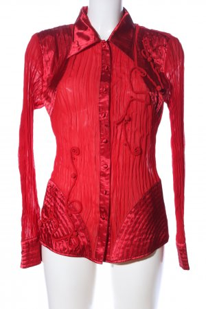 carina Long Sleeve Blouse red wet-look