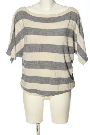 Carina Ricci  crema-grigio chiaro motivo a righe stile casual