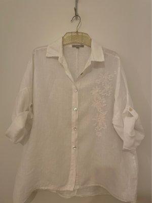 Carina Ricci Blusa in lino bianco