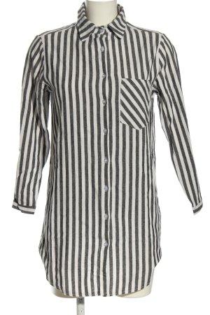 Carina Ricci Camicetta lunga nero-bianco motivo a righe stile casual