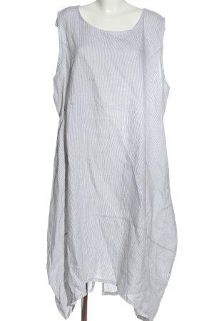 Carina Ricci Robe mi-longue blanc-gris clair motif rayé style décontracté