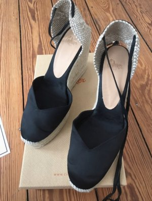 Castañer Espadrille Sandals black silk