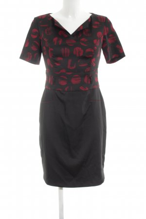 Carla Pencil Dress black-red abstract pattern casual look
