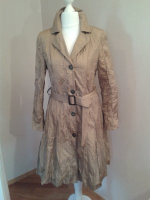 Carla Degen Between-Seasons-Coat camel polyester
