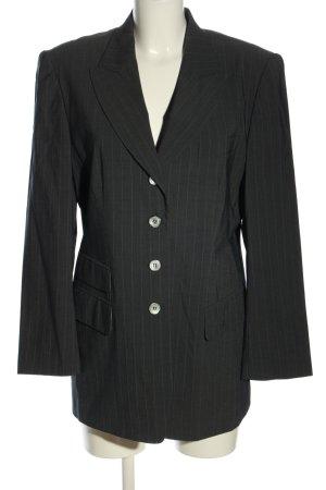 Carla Degen Long Blazer black striped pattern business style