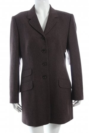 Carla Degen Long Blazer grey brown-black brown business style