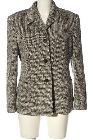 Carla Degen Blazer en laine blanc-noir motif abstrait style décontracté