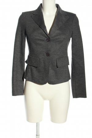 Carla G. Short Blazer light grey flecked business style