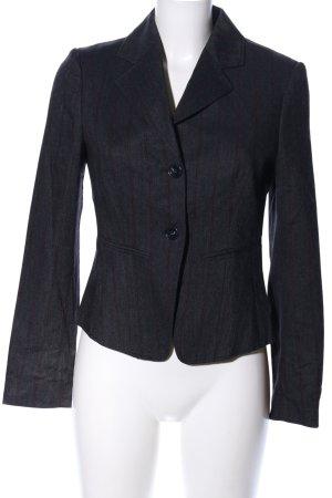 Carla G. Blazer court noir-rouge motif rayé style d'affaires