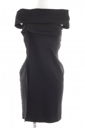 Carla G. One-Shoulder-Kleid schwarz Business-Look