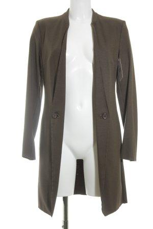 Carla G. Manteau en laine brun style simple