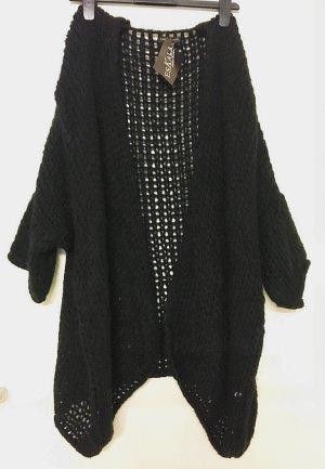 Carla Giannini Knitted Coat black mixture fibre