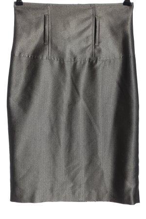 Carla Rok met hoge taille zilver-lichtgrijs zakelijke stijl