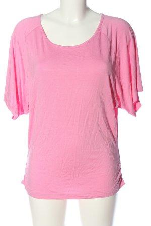 Carla T-shirt roze casual uitstraling