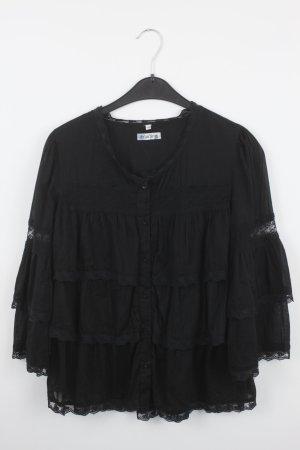 Carling Bluse Gr. 40 schwarz mit Spitze