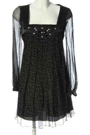 Carling Jurk met lange mouwen zwart volledige print elegant