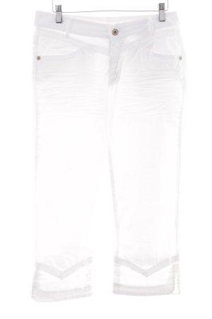 Carlo Colucci Pantalone a 3/4 bianco stile casual