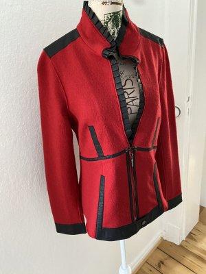 Carlo Colucci Sweatblazer rood-zwart Wol