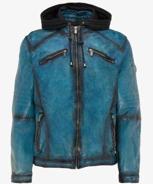 Carlo Colucci Leather Jacket cornflower blue