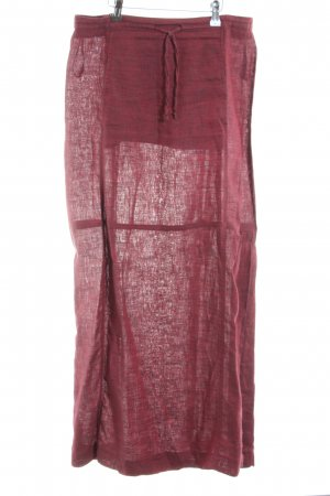 Carlo Colucci Linen Skirt red casual look