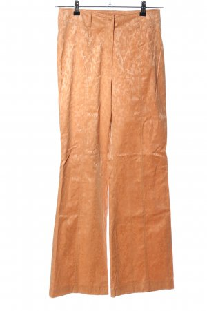 Carlo Colucci Marlene Trousers light orange abstract pattern elegant