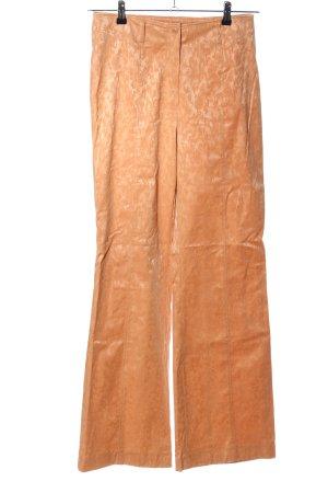 Carlo Colucci Pantalone Marlene arancione chiaro motivo astratto elegante