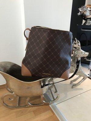 Carlo Colucci Shoulder Bag brown-nude polyurethane