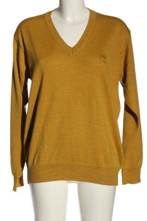 Carlo Colucci V-Neck Sweater light orange casual look