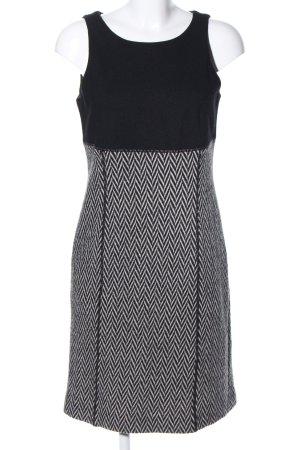Carlo Colucci Vestido de lana negro-gris claro elegante