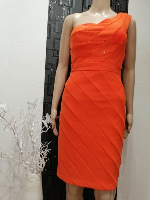 CARLO PIGNATELLI Robe crayon orange fluo polyester